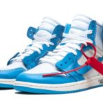 "抽選結果 off white Virgil Abloh× NIKE AIR JORDAN 1 ""POWDER BLUE"""