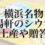 横浜名物 崎陽軒のシウマイ おみやげやお弁当に迷ったら・・・
