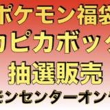 2021年ポケモン福袋『ピカピカボックス!』ポケモンセンターオンライン